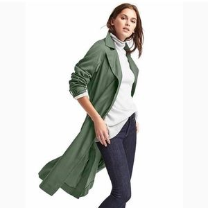 Gap petite olive green classic trench med petite